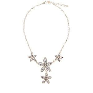Colier de cristal cu flori argintii Gionni