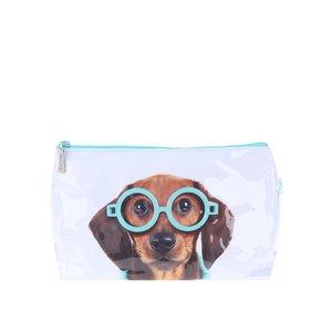 Geantă de toaletă Glasses Dog bleu de la Catseye London