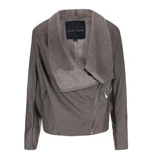 New Look, Jachetă din piele artificială gri de la New Look
