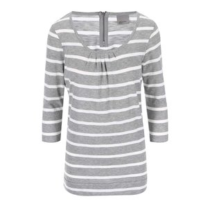 Vero Moda Hope White and Grey Striped T-Shirt