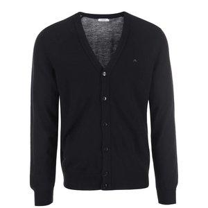 J.Lindeberg Lymac Black Merino Wool Cardigan