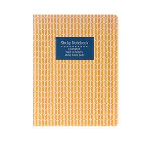 Blocnotes adeziv galben cu imprimeu Helio Ferretti