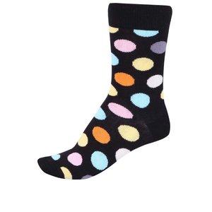 Șosete pentru femei negre cu buline Happy Socks