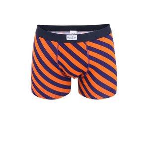 Șort boxer cu dungi portocalii și albastre Happy Socks Polka