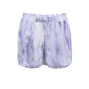Vero Moda Pantaloni Scurți Texturați – Alb și Violet