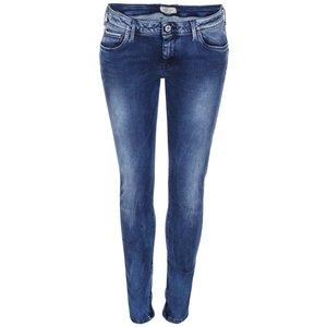 Jeanși de damă bleumarin cu talie joasă Pepe Jeans Cher