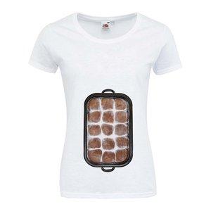 """Tricou alb ZOOT Original I love my six-pack"""" din bumbac pentru femei"""""""