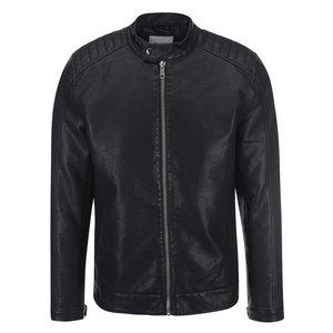 ONLY & SONS, Jachetă neagră din piele artificială ONLY & SONS James