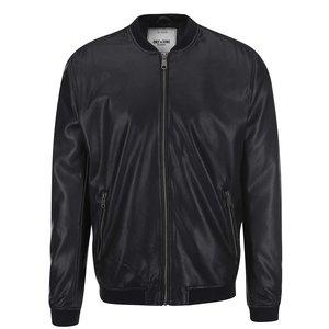 Jachetă bomber neagră ONLY & SONS London din piele sintetică