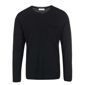 Selected, Bluză neagră cu mânecă lungă bărbătească Selected Homme Pima Florence