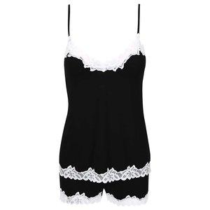 Pijamale negre cu dantelă albă Eldar Aria la pretul de 174.99