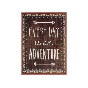 Tablou Every Day Is an Adventure din lemn maro de la Sass & Belle