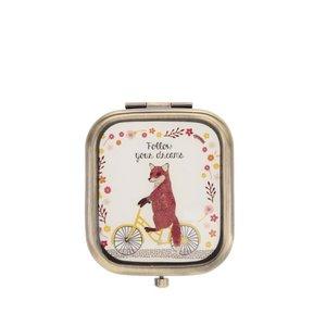 Oglindă compactă Sass & Belle cu model vulpiță