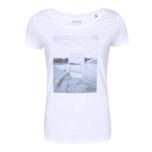 Tricou alb cu imprimeu ZOOT Original A CUP OF STYLE Dolphin de damă