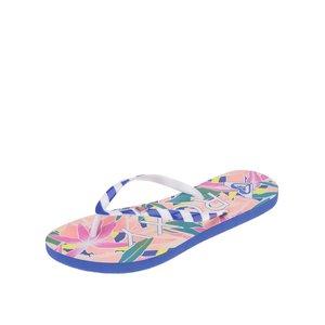 Roxy, Papuci albastru cu alb și imprimeu tropical Roxy Mimosa