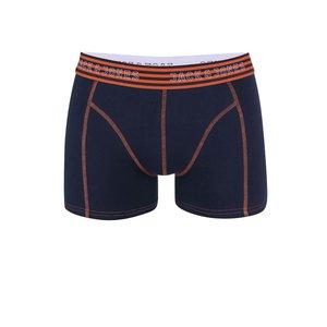 Jack & Jones, Boxeri bleumarin cu talie portocalie Jack & Jones Simple
