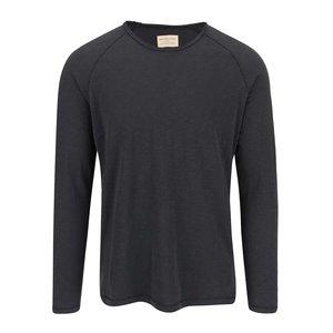 Tricou bărbătesc gri închis cu mânecă lungă Selected Homme Tobi