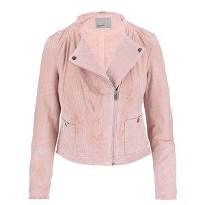 Jachetă roz deschis din piele Vero Moda Fina