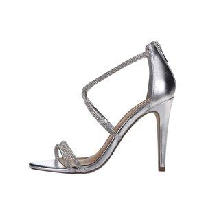 ALDO, Sandale argintii cu toc ALDO Arenani