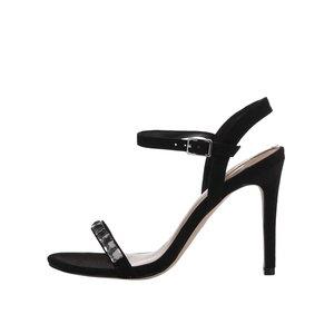 ALDO, Sandale negre cu toc decorate ALDO Edilisien