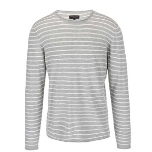 Casual Friday by Blend, Pulover Casual Friday de by Blend gri, în dungi