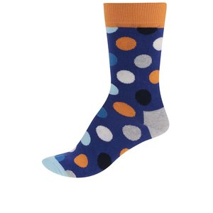 Șosete Happy Socks Big Dot de damă albastre cu buline