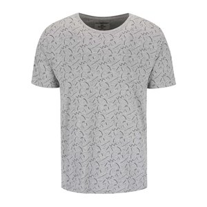 Bellfield Cosmos Grey Patterned T-shirt