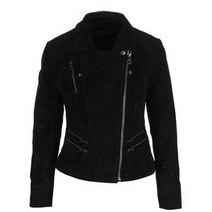 Jacheta neagra ONLY Justine din piele