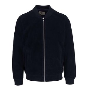 Bellfield Tupello Navy Blue Suede Leather Jacket