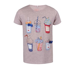 name it, Tricou name it Fabob pentru fete roz imprimat