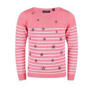 Blue Seven, Pulover Blue Seven pentru fete roz cu imprimeu cu stele
