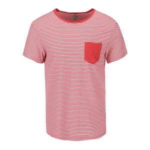 Tricou Blend de culoare roșie cu buzunar la piept