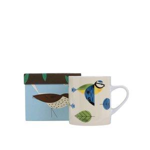 Cană Magpie Blue Tit crem, cu print la pretul de 64.99