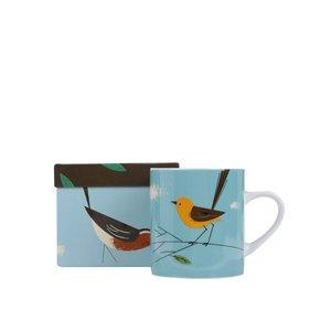 Magpie, Cană Magpie Wagtail cu pasăre