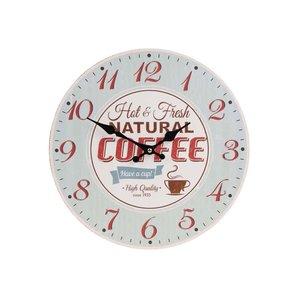Ceas de perete Dakls Coffee verde deschis, stil retro