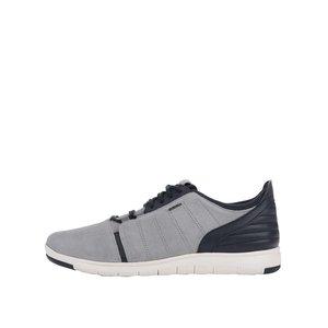 Pantofi sport gri cu albastru Geox Xunday
