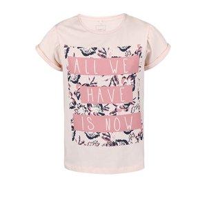 Tricou name it Glitterish roz cu print pentru fete