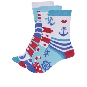 Set de 3 șosete Oddsocks Isla colorate