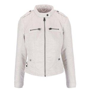 Jachetă crem Vero Moda Houston cu aspect de piele întoarsă