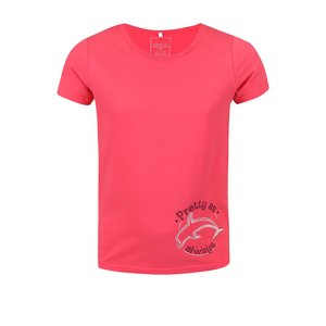 Tricou name it Vix roșu cu imprimeu delfin pentru copii