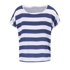 Tricou Zabaione Cher alb/albastru în dungi