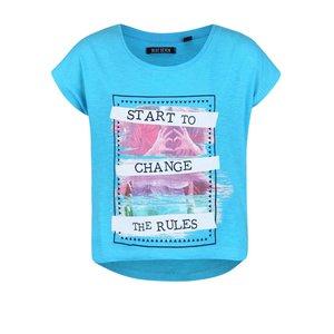 Blue Seven, Tricou turcoaz cu model Blue Seven pentru fete