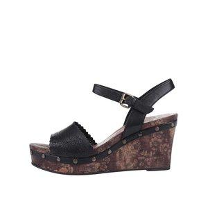 Sandale cu platformă Tamaris negre din piele la pretul de 339.99