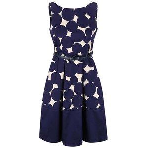 Closet, Rochie albastră Closet cu model geometric crem