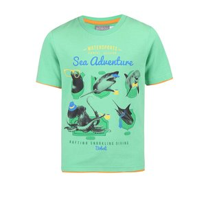 BÓBOLI, Tricou Bóboli pentru băieți verde cu model