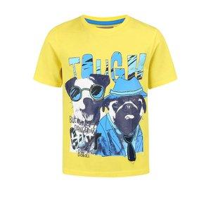 BÓBOLI, Tricou Bóboli pentru băieți galben cu model