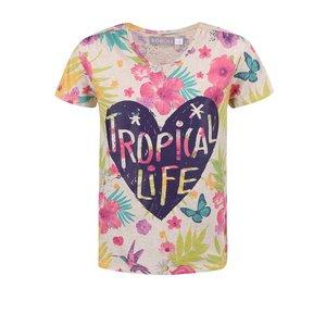 BÓBOLI, Tricou cu model floral Bóboli pentru fete