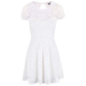 Rochie Vero Moda Celeb albă cu dantelă la pretul de 117.5