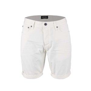 Pantaloni scurți Jack & Jones Rick crem din denim