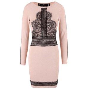 Rochie Lipsy roz deschis cu model negru